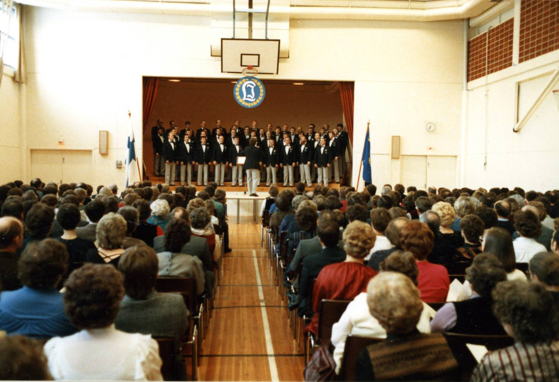 Laulu-Jaakkojen kevätkonsertti vuonna 1984