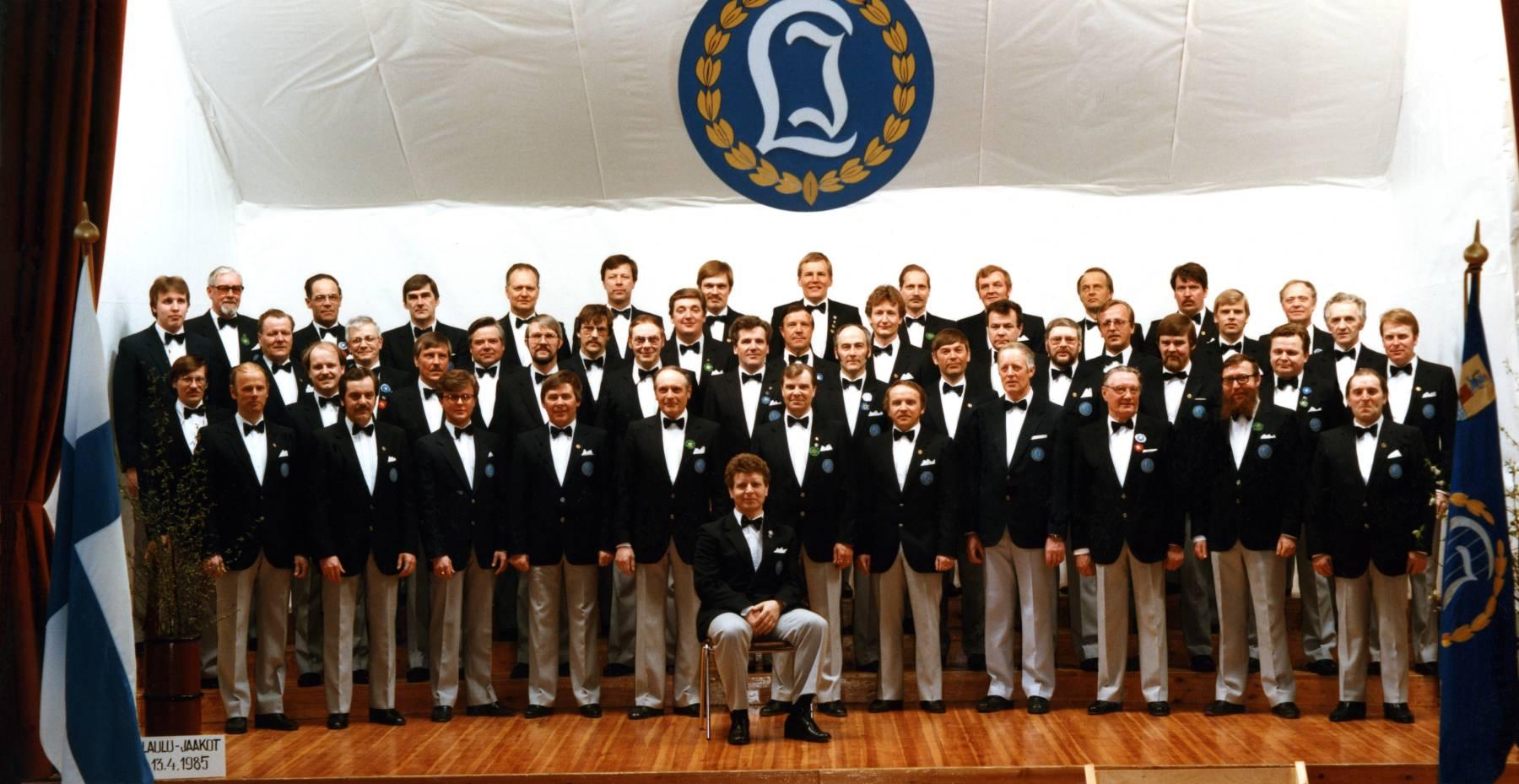 Laulu-Jaakkojen kevätkonsertti v. 1985