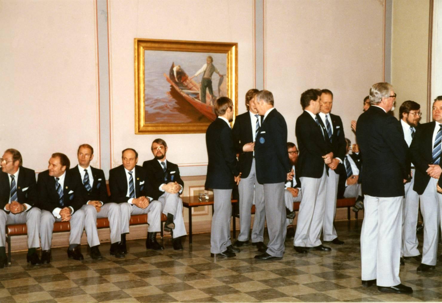 Laulu-Jaakot maaherran juhlissa v. 1985