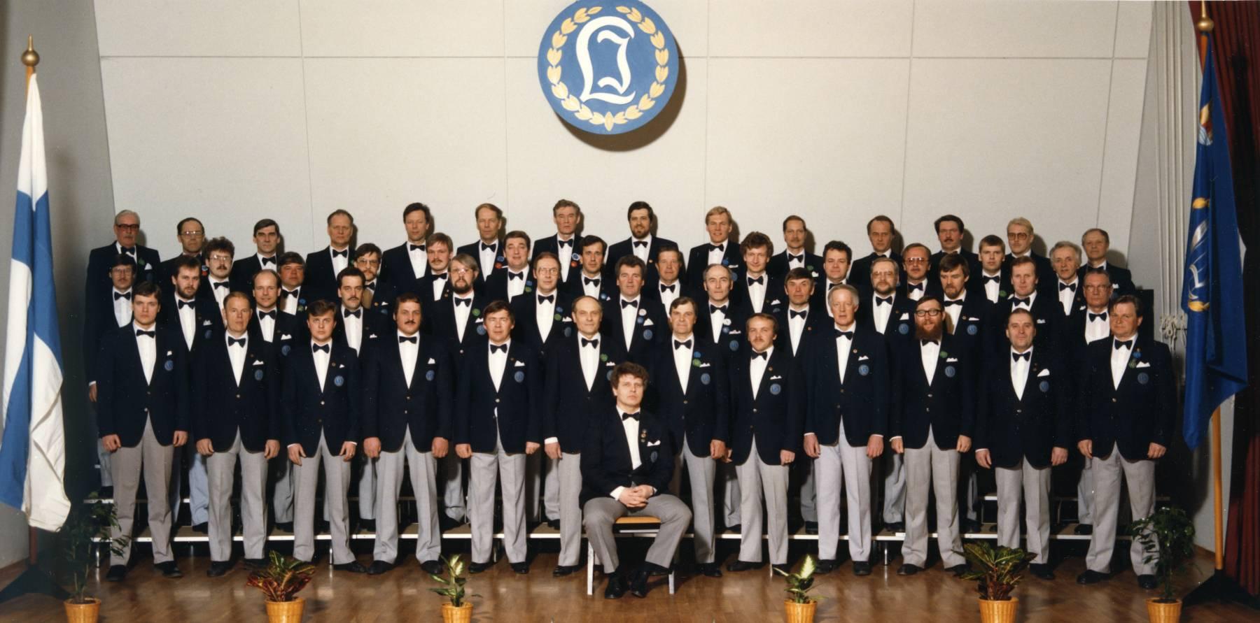 Laulu-Jaakkojen kevätkonsertti v. 1987