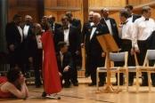 Laulu-Jaakkojen kevätkonserttiin valmistautumista