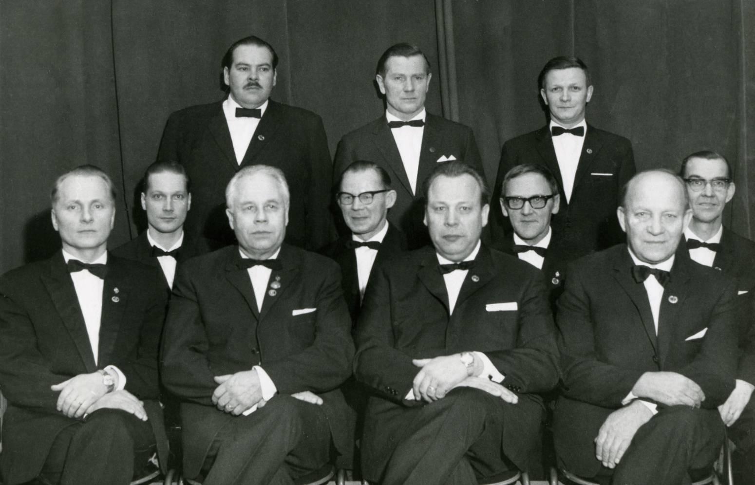 Laulu-Jaakkojen hallitus vuonna 1966.