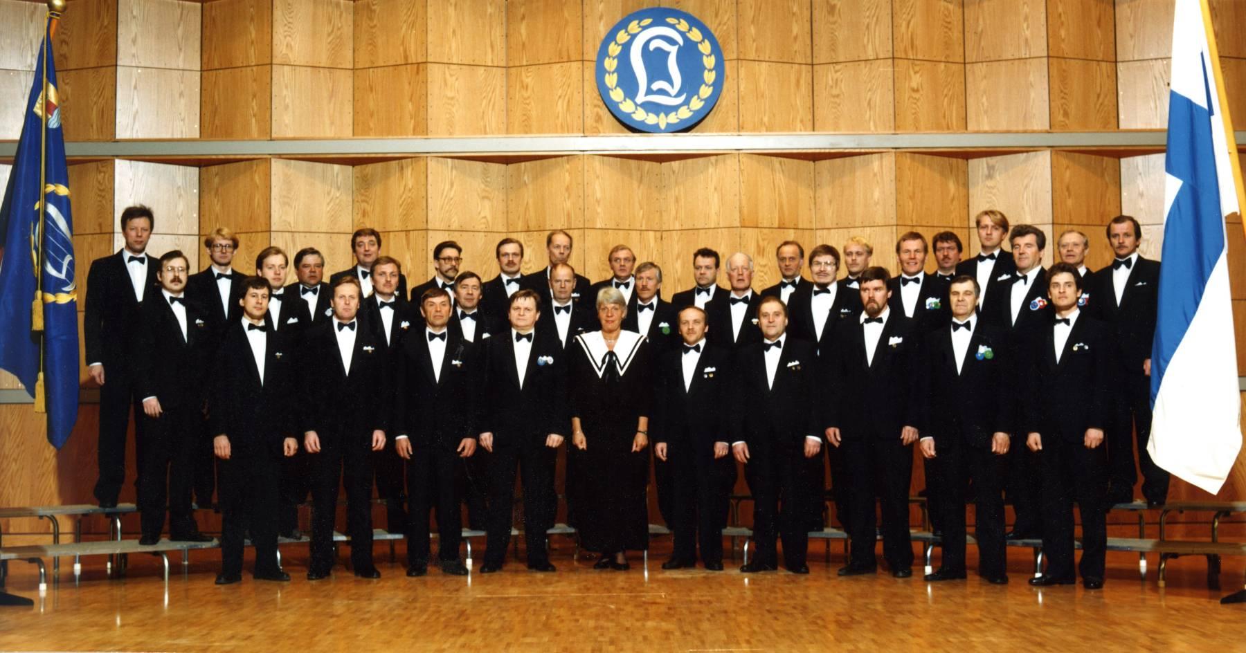 Laulu-Jaakkojen kevätkonsertti v. 1991